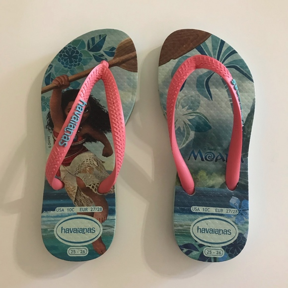 b34646b1f2ae Havaianas Other - Havaianas Disney MOANA Flip Flops Sandals Sz 10